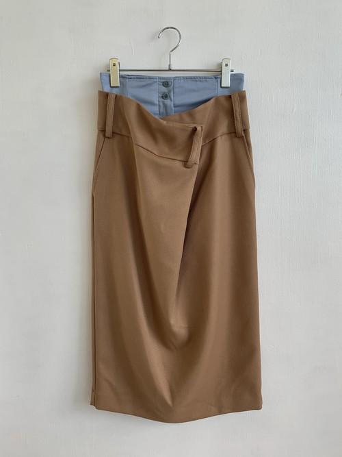 SALT+ ウエストドレープスカート