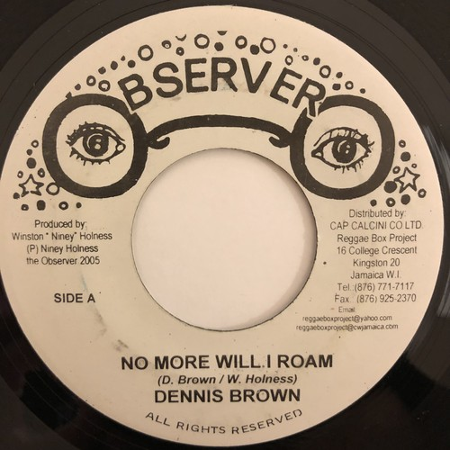 Dennis Brown - No More Will I Roam【7-20467】