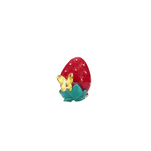 なかやまちえこDesign Ring/strawberry(2種類)