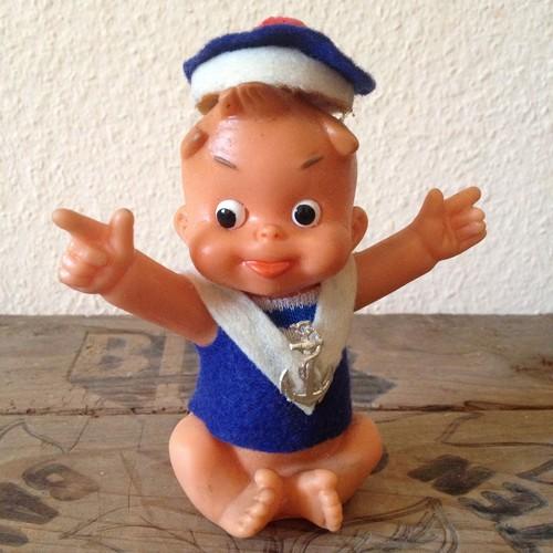 ヴィンテージ ぜんまい仕掛けの人形 ダンス人形 赤ちゃん