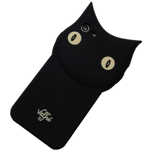 Valfre 3D 立体 黒猫 iphone8 iphone7 ケース 柔軟シリコン ラバー 猫耳 カバー アイフォン8 ねこ かわいい キャラクター