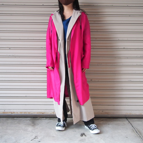 【hippiness】cupro coat(Pink)/【ヒッピネス】キュプラ コート(ピンク)