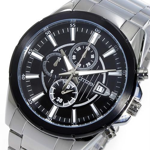 シチズン CITIZEN クロノ クオーツ メンズ 腕時計 AN3561-59E ブラック ブラック