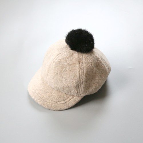 chocolatesoup(チョコレートスープ)/ FLEECE POMPOM CAP /white / S,M
