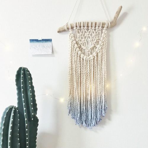 Dipdye macrame tapestry - beach × boho -