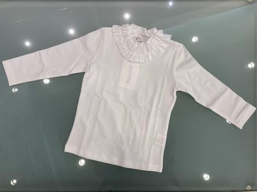 SpecialDay フリルハイネック長袖Tシャツホワイト 2才~6才