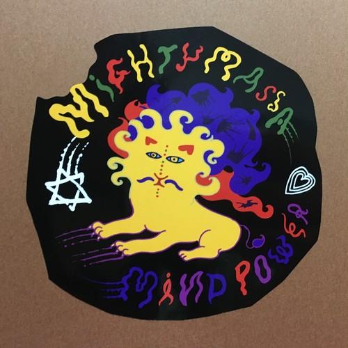 Mighty massa×Mind power Collaboration sticker(Black)