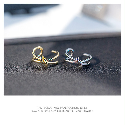 【ring】2color Knot design [kgf0136]
