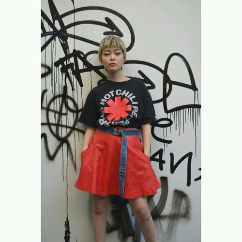 Leather skirt (Red)