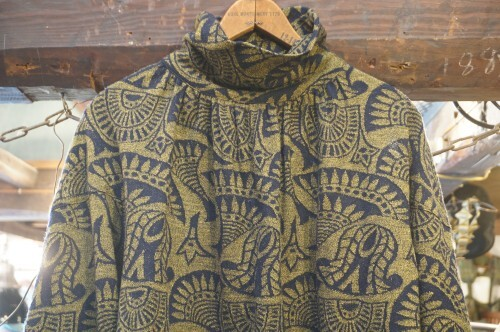 80's jacquard knit pull-over Top
