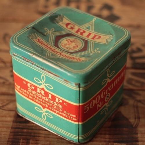 ドイツ ヴィンテージ GRIP Stahlstecknadeln ティン缶/tin缶