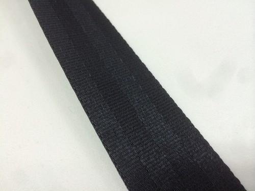 ナイロン ベルト 二ツ山織 20㎜幅 1.6㎜厚 黒 1m