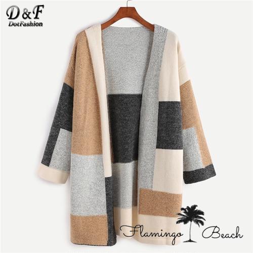 【FlamingoBeach】color blocking knit