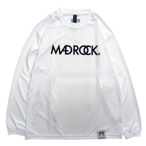 マッドロック / ロゴ ロンT / ドライタイプ / ホワイト&ブラック