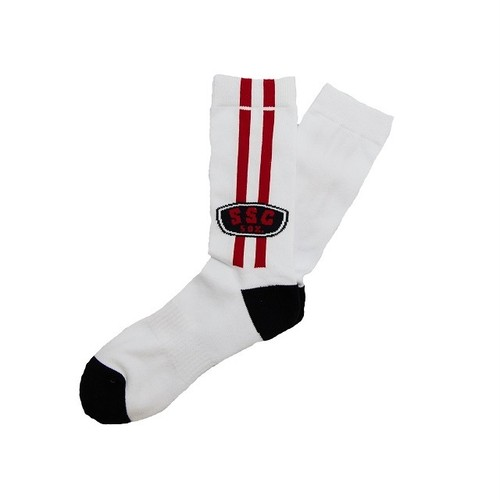 SURF SKATE CAMP #Two Line Socks White
