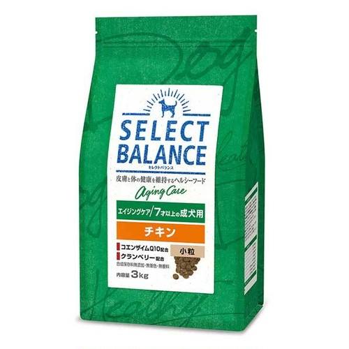 セレクトバランス エイジングケア チキン 小粒 7才以上の成犬用3kg