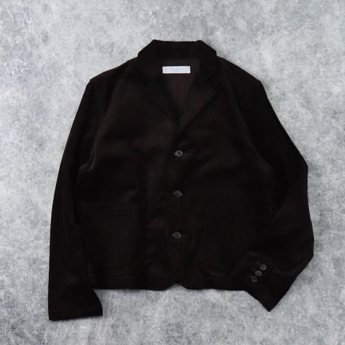 【SETTO】UNE JACKET (DARK BROWN) セット ジャケット コーデュロイ ウィメンズ レディース 日本製 MADE IN JAPAN