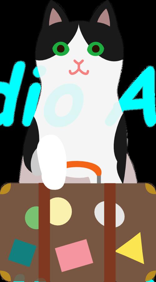 猫とスーツケース