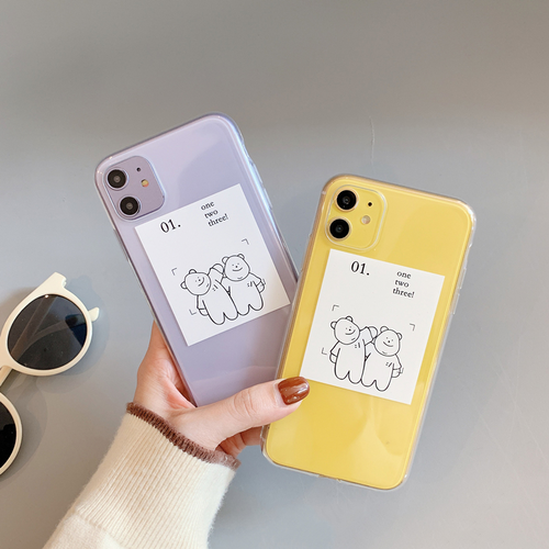 【オーダー商品】 Embracing bear iphone case