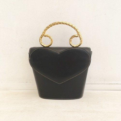 CHARLES JOURDAN gold heart hand bag