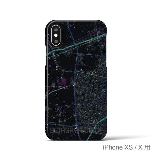 【世田谷代田】地図柄iPhoneケース(バックカバータイプ・ブラック)