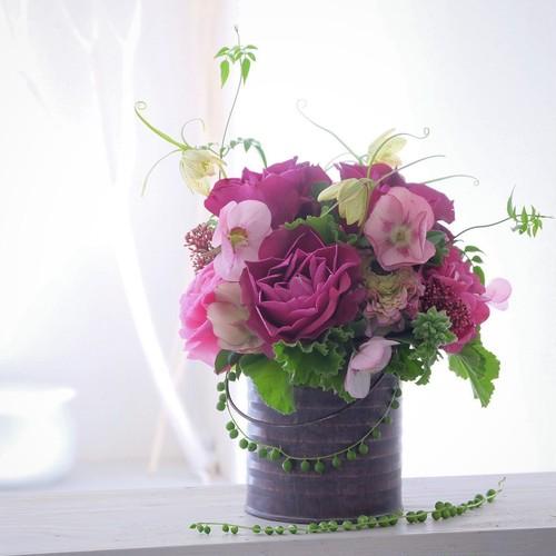 【札幌市内用】(S)ノーブルアレンジ S「Jardin aromatique(香りの庭)」