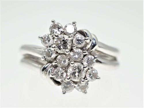 【1.00Cts】PT900 ダイヤモンドリング【サイズ直し無料】