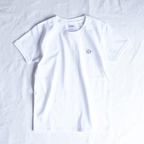 LCR オリジナルTシャツ(logo刺繍・white)