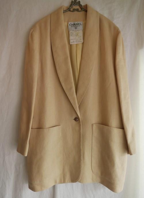 CHANEL Linen Jacket -Yellow Beije-