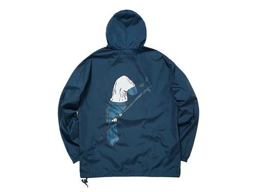 WHIMSY / SOCK BIRD NYLON PACKABLE ANORAK -NAVY-