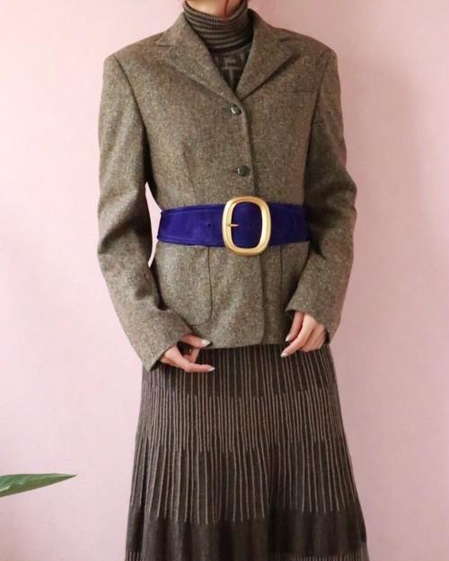Ferragamo multi color tweed jacket