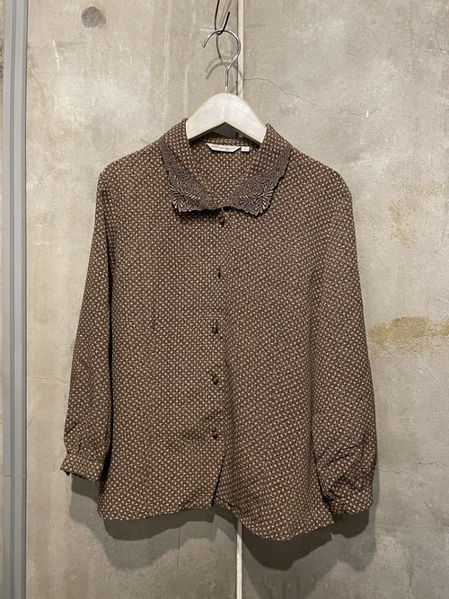 (TOYO) lace collar design blouse