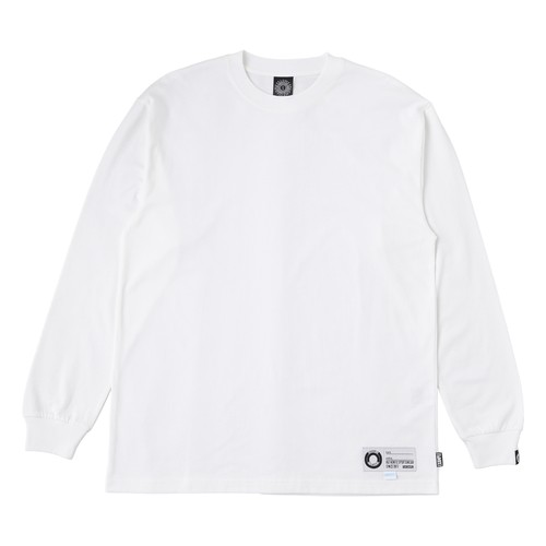 EXAMPLE COOL MAX FABRIC TAG L/S TEE / WHITE x WHITE