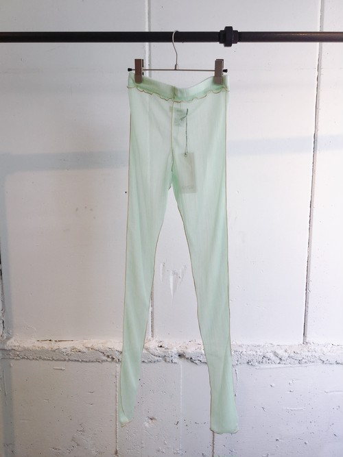 GVGV SHEER JERSEY LEGGINGS (GREEN)