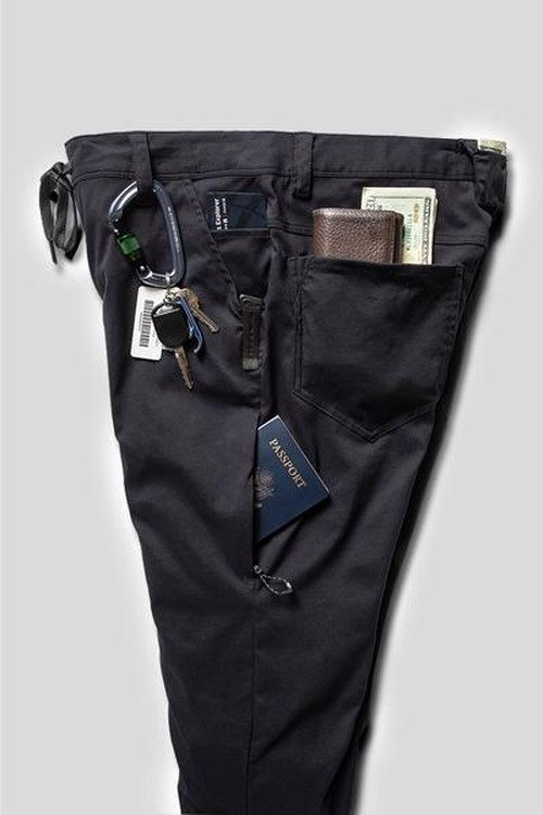 【686】MEN'S EVERYWHERE PANT - SLIM FIT  BLACK