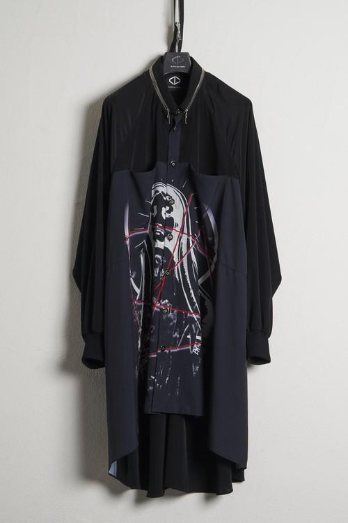 Buckle Rib Shirts-Maria / Black [21SS COLLECTION]