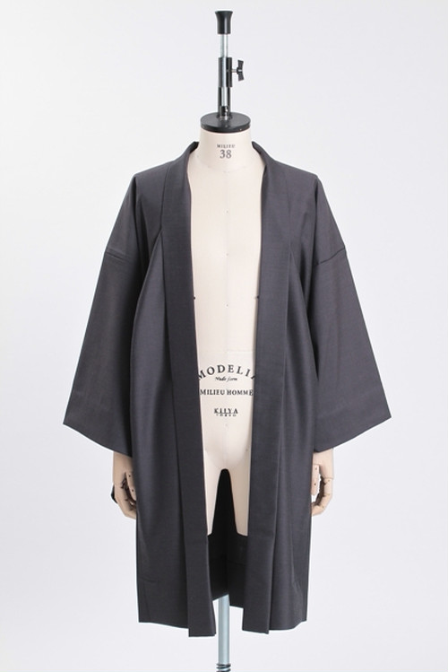 羽織 / Silk-wool / Ink(With tailoring)