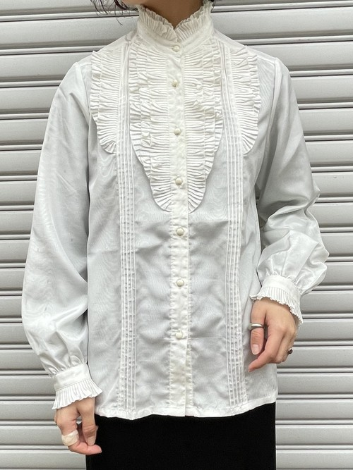 (TOYO) stand lace color blouse