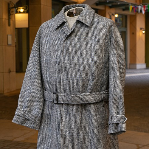 OLD Scabal WOOL BELTED COAT