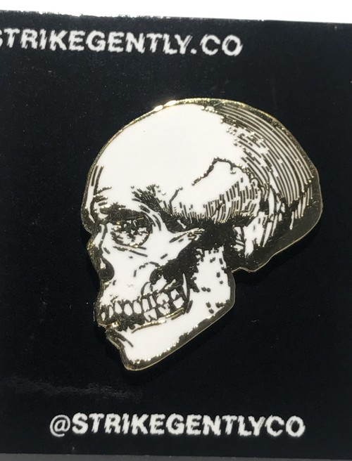 "STRIKEGENTLY.CO""Skull Pin"""