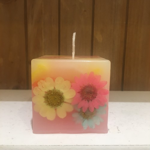 FLOWER CUBE CANDLE キャンドル