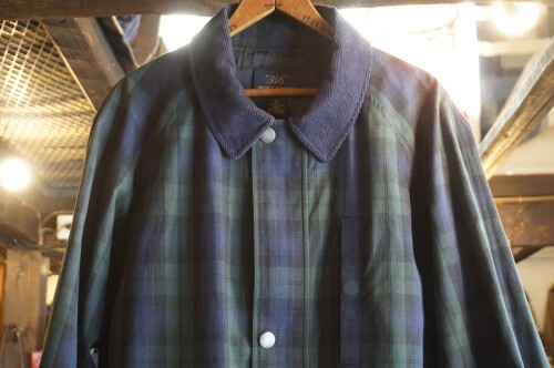 00's Brooks Brothers black watch tartan Coat