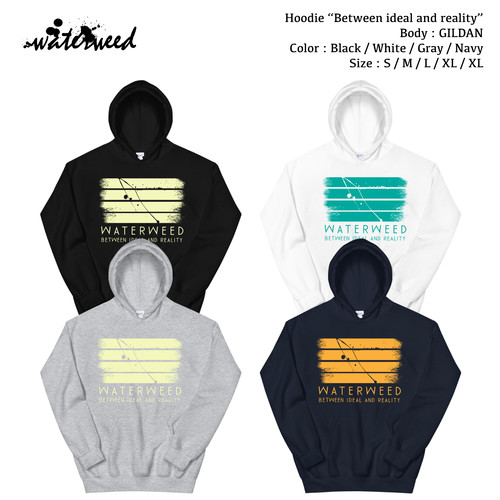 """Hoodie / """"Between ideal and reality"""""""
