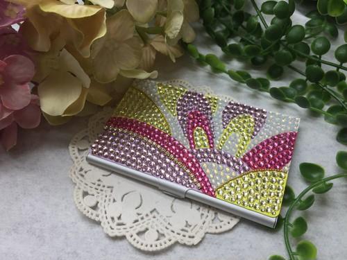 スワロデコ 幾何学模様カードケース