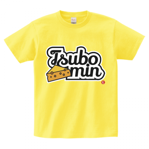 TSUBOMIN / CHEESE & LILY SCRIPT LOGO T-SHIRT YELLOW