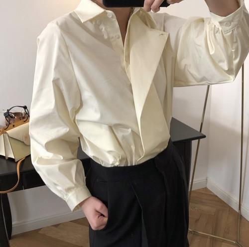アシンメトリーデザインシャツ ・1465