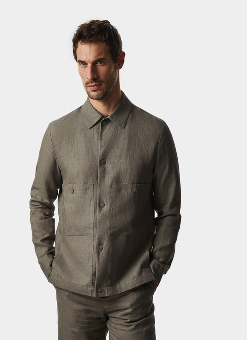 LINEN OVERSHIRT WITH CHEST POCKETS