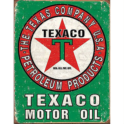 TinSign TEXACO OIL WEATHERED MS1927