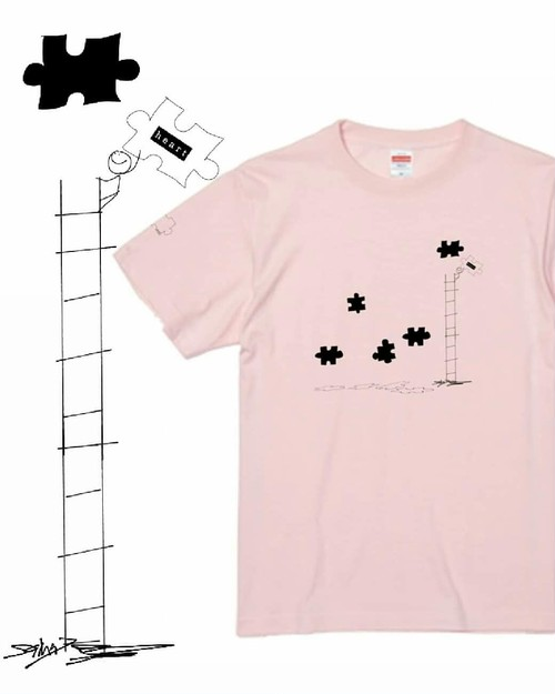 【puzzle】ベビーピンク Tシャツ