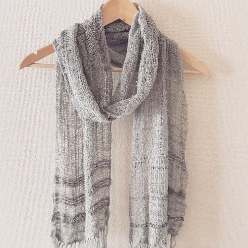 手織り シルクマフラー handweaving scarf